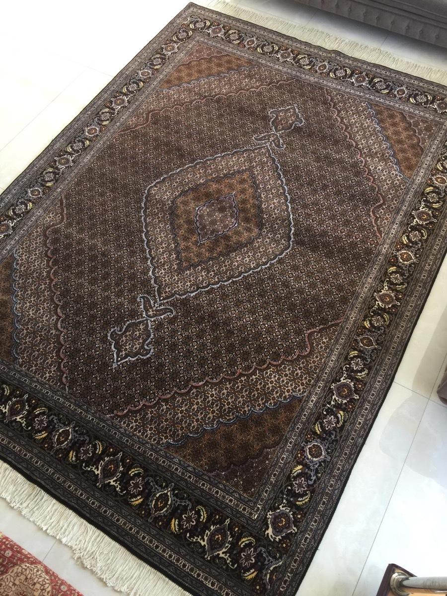 上質のオールド 上品で高級感あふれるマヒ ペルシャ絨毯 _画像4