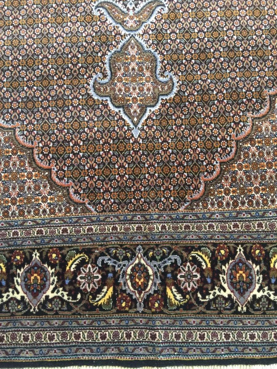 上質のオールド 上品で高級感あふれるマヒ ペルシャ絨毯 _画像6