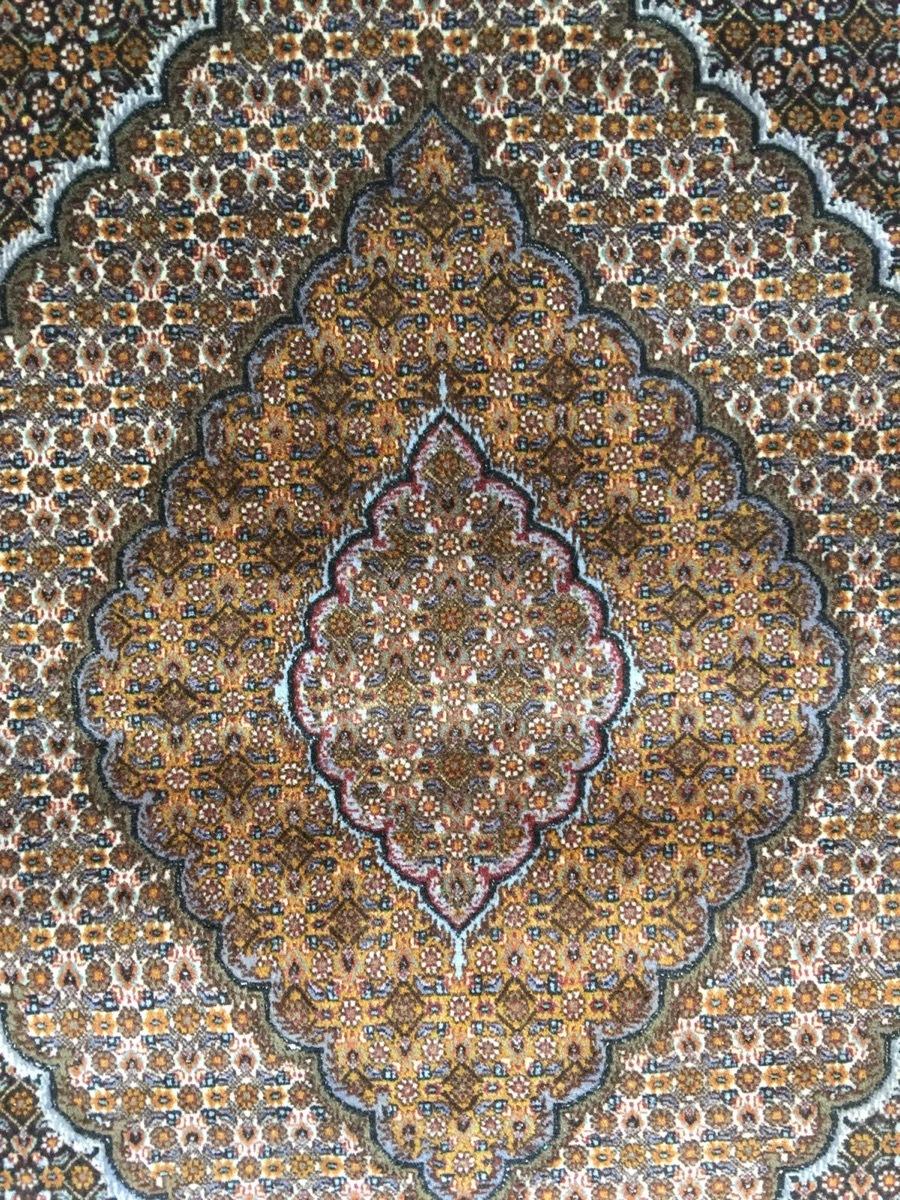 上質のオールド 上品で高級感あふれるマヒ ペルシャ絨毯 _画像2