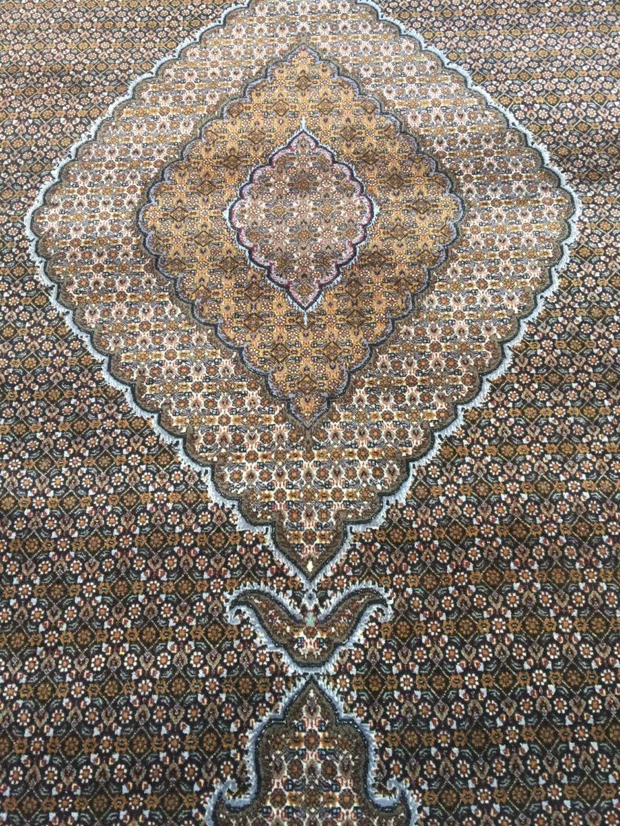 上質のオールド 上品で高級感あふれるマヒ ペルシャ絨毯 _画像7