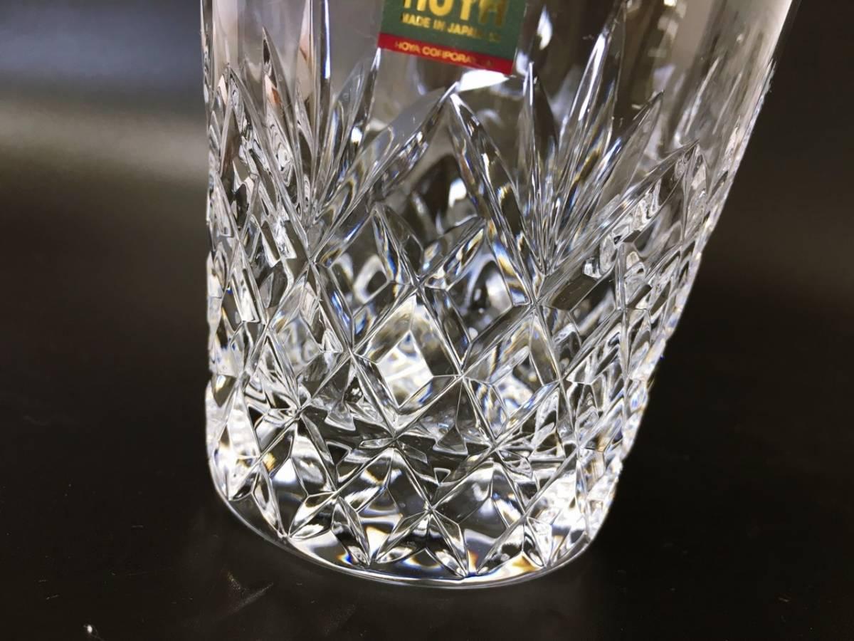 未使用 HOYA ホヤ CRYSTAL クリスタル ロックグラス クリスタルグラス カットガラス オールドファッションドグラス 箱入り_画像6