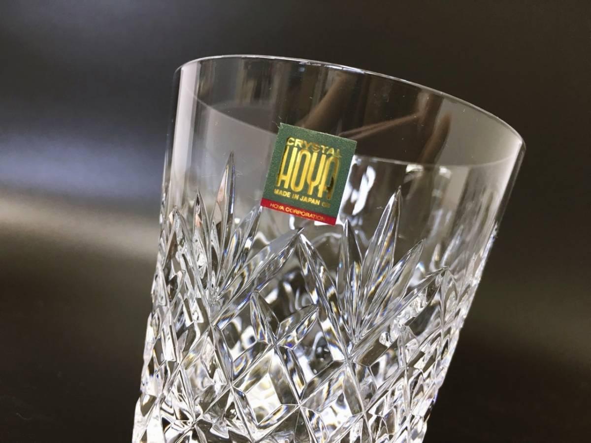 未使用 HOYA ホヤ CRYSTAL クリスタル ロックグラス クリスタルグラス カットガラス オールドファッションドグラス 箱入り_画像4