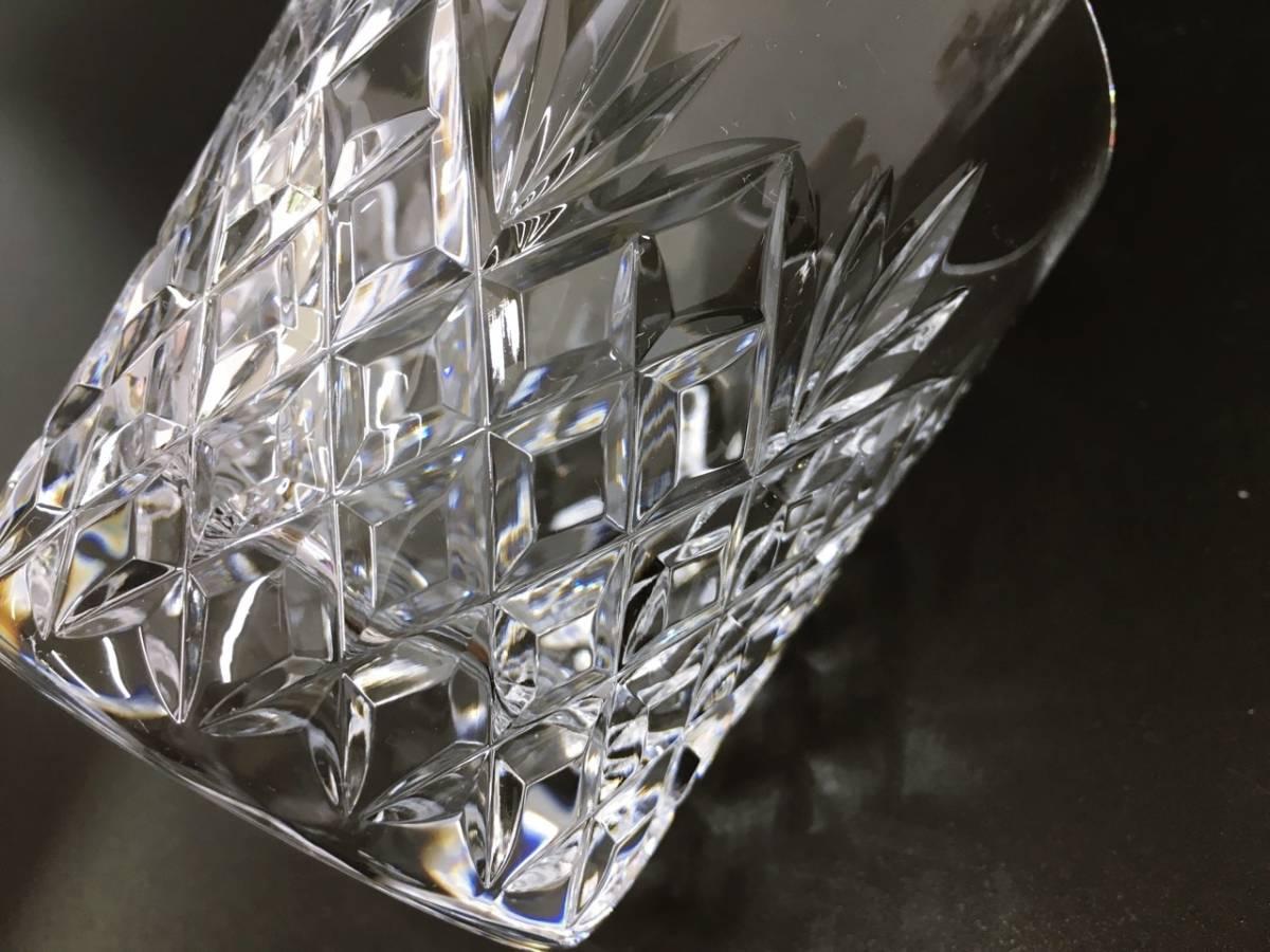 未使用 HOYA ホヤ CRYSTAL クリスタル ロックグラス クリスタルグラス カットガラス オールドファッションドグラス 箱入り_画像7