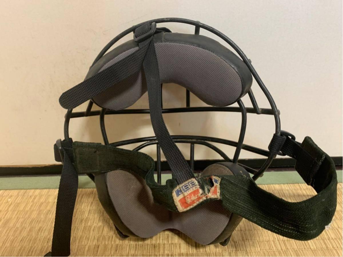【防具セット】ミズノ、ZETT、ベルガード軟式野球キャッチャー防具セット レガース ヘルメット マスク ブラック 大人用_画像8
