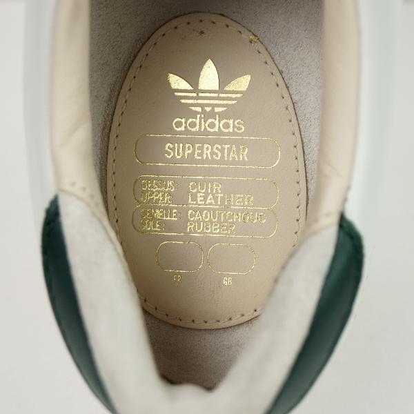 【未使用】定価1.9万 adidas originals アディダス《SUPERSTAR 80s RECON》スーパースター リーコン 上質レザースニーカー 26CM 白グリーン_画像7