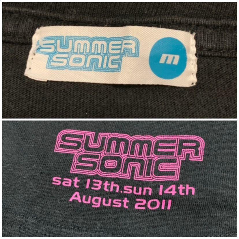 稀少!■SUMMER SONIC サマーソニック■2011 ライブフェスTシャツ:M☆BH-463_画像5