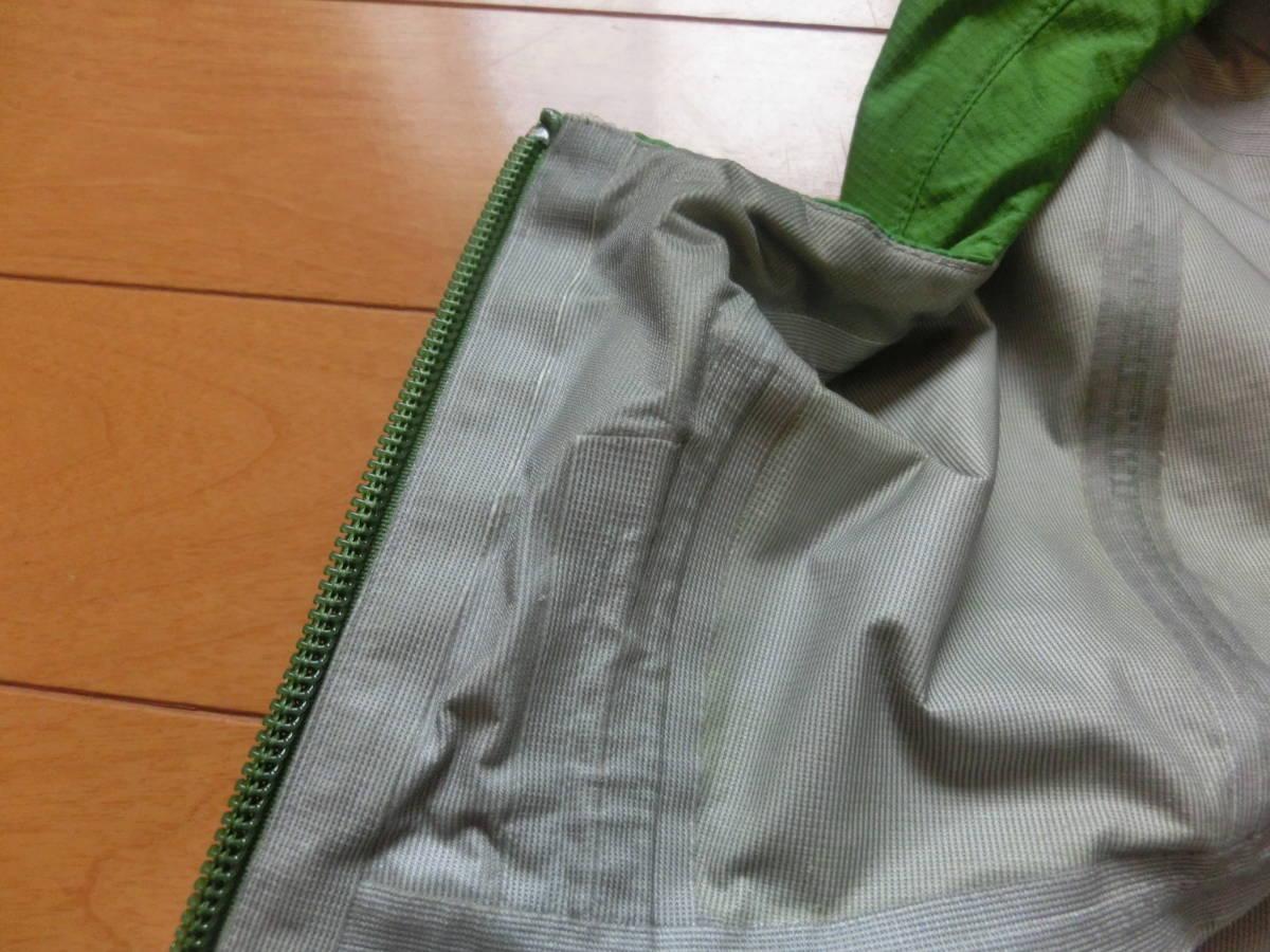 モンベル ゴアテックス レインダンサージャケット men's Mサイズ グリーン_画像7