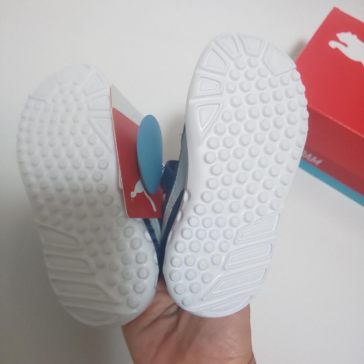 新品 PUMA スニーカー 14cm ブルー 男の子 キッズ プーマ 運動靴_画像5