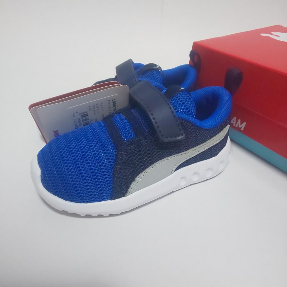 新品 PUMA スニーカー 14cm ブルー 男の子 キッズ プーマ 運動靴_画像1