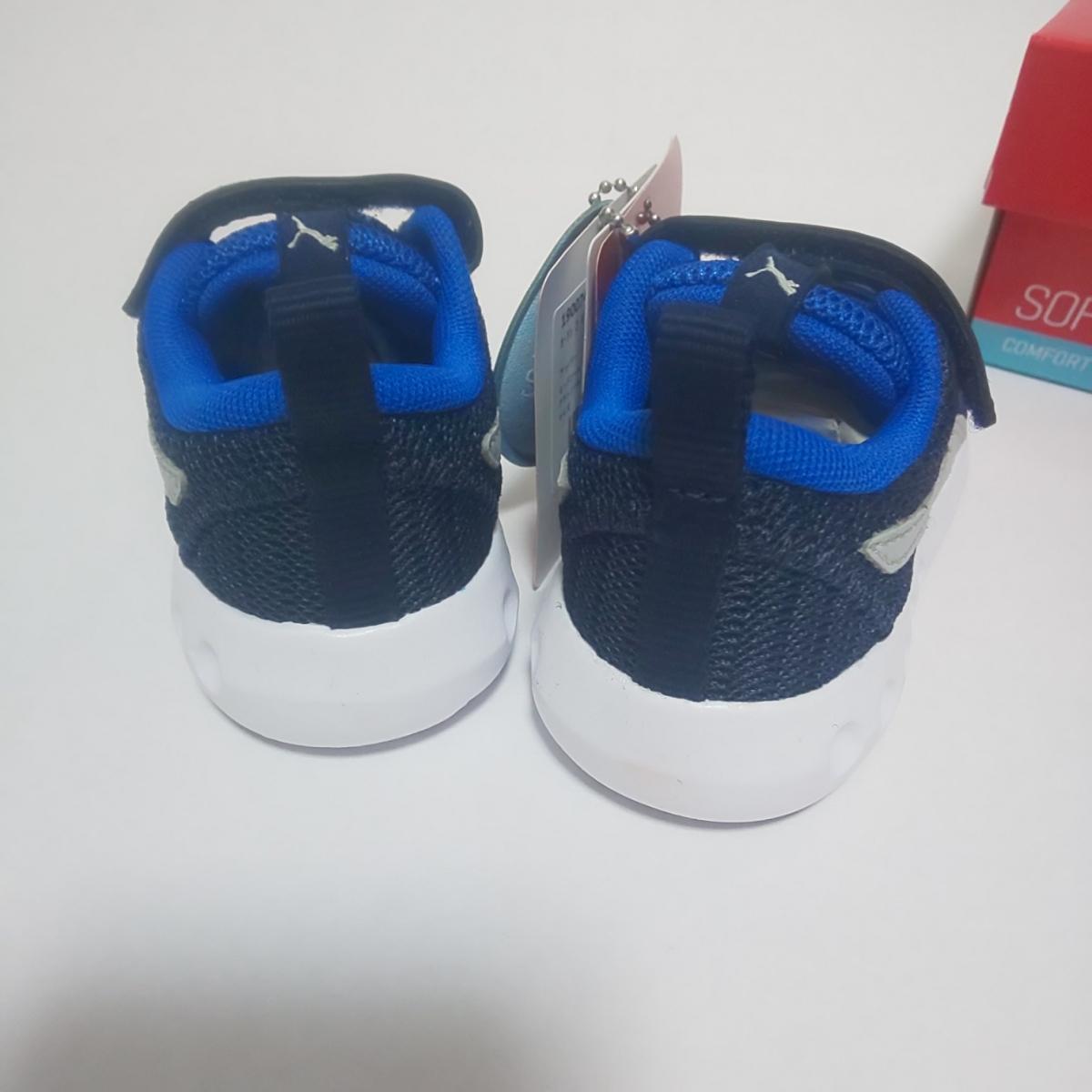 新品 PUMA スニーカー 14cm ブルー 男の子 キッズ プーマ 運動靴_画像4