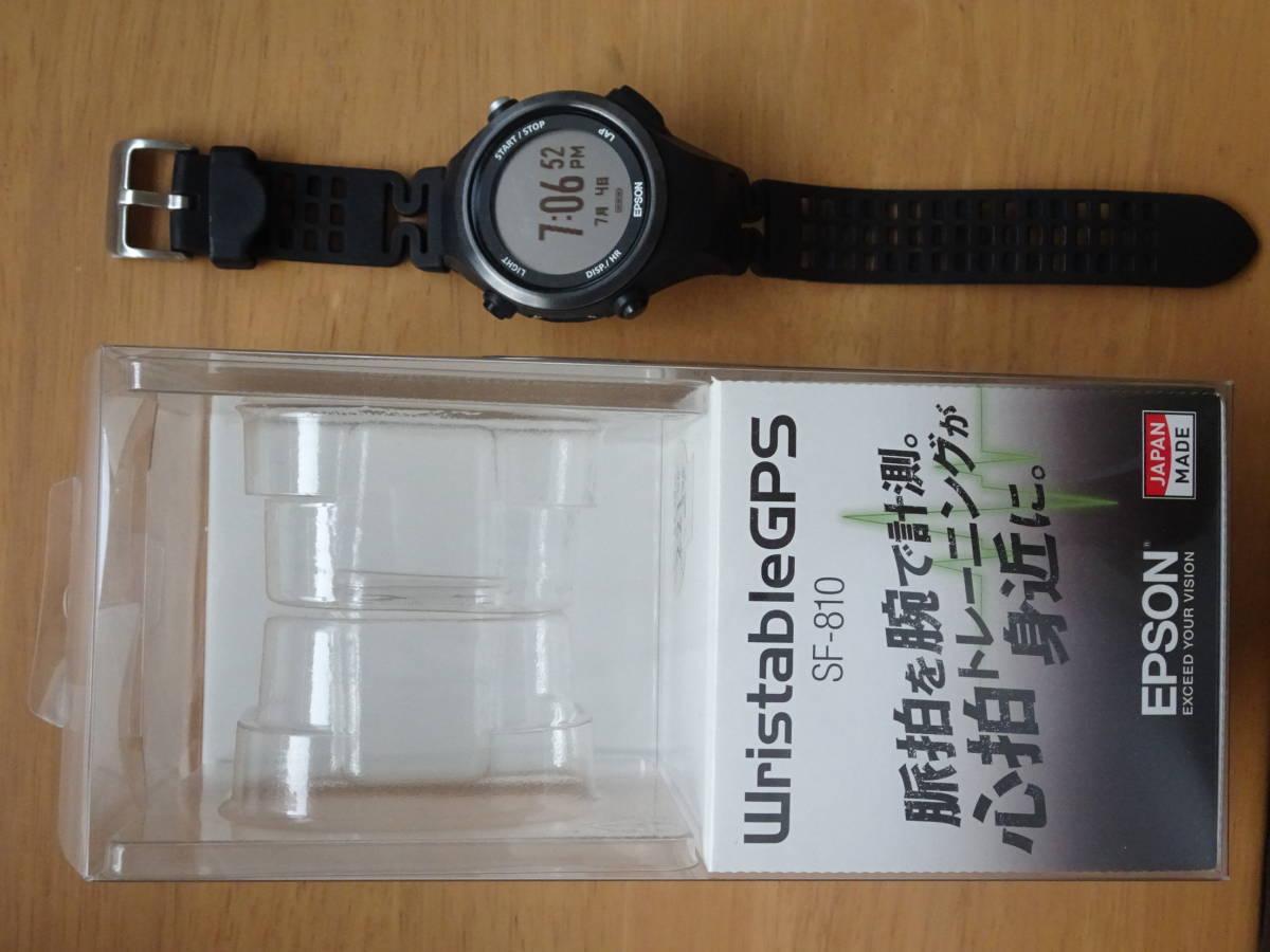 [エプソン リスタブルジーピーエス]EPSON Wristable GPS 腕時計 GPS・脈拍計測機能付 SF-810B _画像2