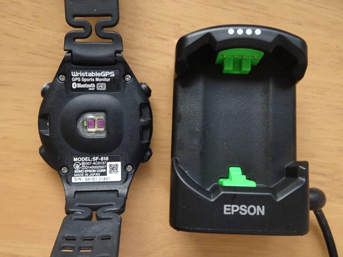 [エプソン リスタブルジーピーエス]EPSON Wristable GPS 腕時計 GPS・脈拍計測機能付 SF-810B _画像3