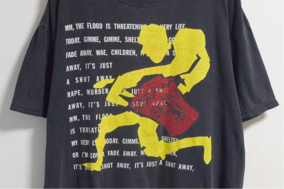 90s The Rolling Stones Gimme Shelter Tシャツ ローリングストーンズ ヴィンテージ 希少 レア バンドt ロックt 音楽t_画像2