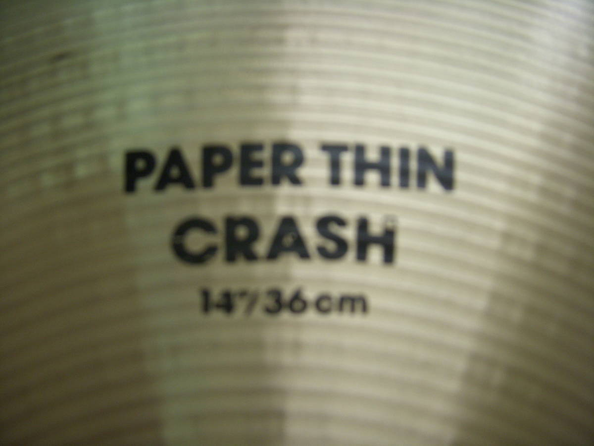 Aジルジャン PAPERTHIN CRASH 14インチ 美品_画像3
