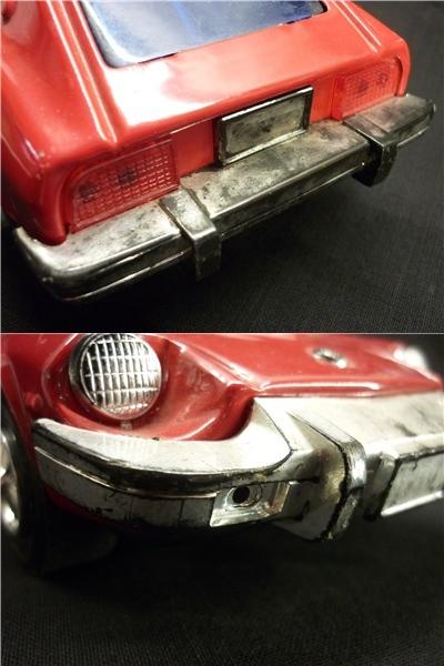 ▽Ba77▼昭和レトロ ブリキ製 日産 フェアレディZ ミニカー NISSAN ゼット スポーツカー ジャンク 赤 車 玩具_画像9