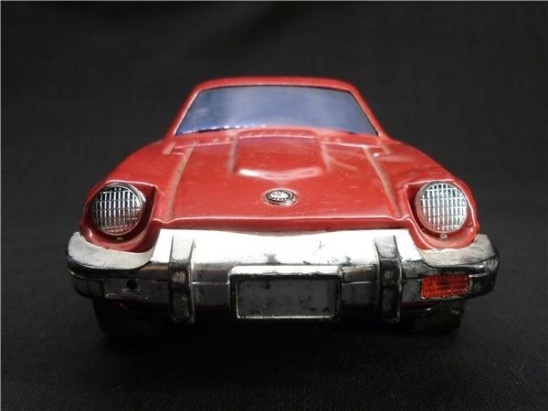 ▽Ba77▼昭和レトロ ブリキ製 日産 フェアレディZ ミニカー NISSAN ゼット スポーツカー ジャンク 赤 車 玩具_画像2