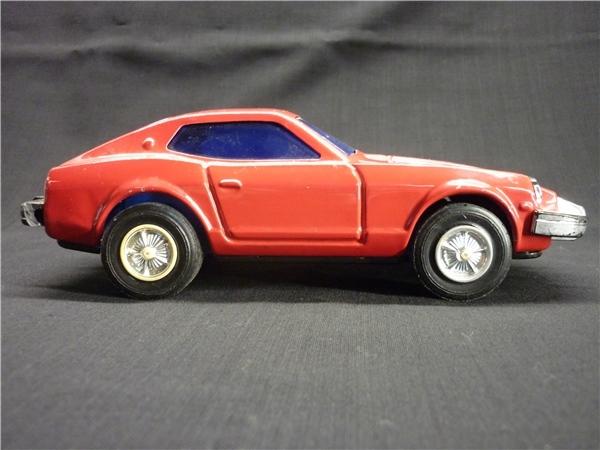 ▽Ba77▼昭和レトロ ブリキ製 日産 フェアレディZ ミニカー NISSAN ゼット スポーツカー ジャンク 赤 車 玩具_画像5