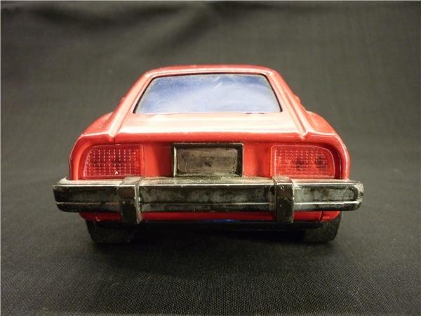 ▽Ba77▼昭和レトロ ブリキ製 日産 フェアレディZ ミニカー NISSAN ゼット スポーツカー ジャンク 赤 車 玩具_画像4