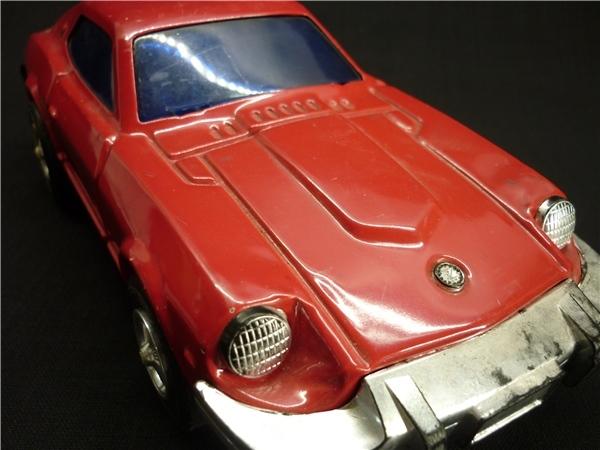 ▽Ba77▼昭和レトロ ブリキ製 日産 フェアレディZ ミニカー NISSAN ゼット スポーツカー ジャンク 赤 車 玩具_画像10
