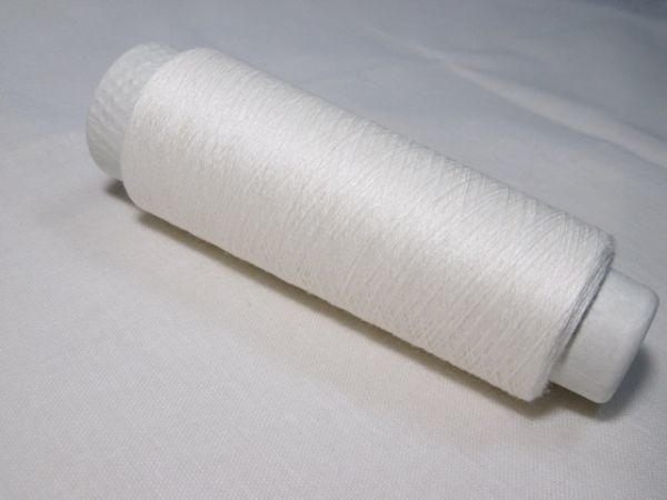 [ new goods *.(tuzuku) brand ] thread *yarn* flax thread *linen*. flax *25g* white *60/1* bobbin race * handcraft certainly please!