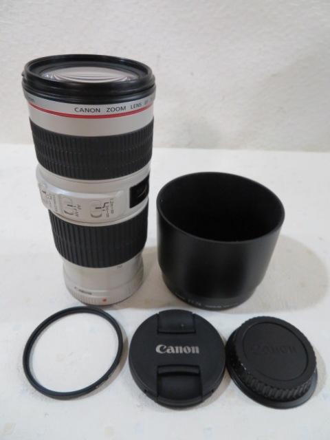 ◆◆Canon EF 70-200mm 1:4 L IS USM IMAGE STABILIZER カメラレンズ オート キャノン フィルター フード付 USED 03663◆◆!!