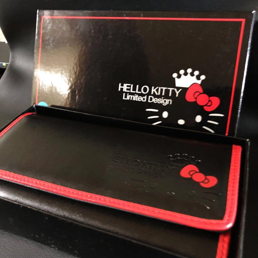 ★ HELLO KITTY ★ 長財布 ★【極美品】ブラック!レアデザイン★ 19×10.5×3cm★ 現品限り!
