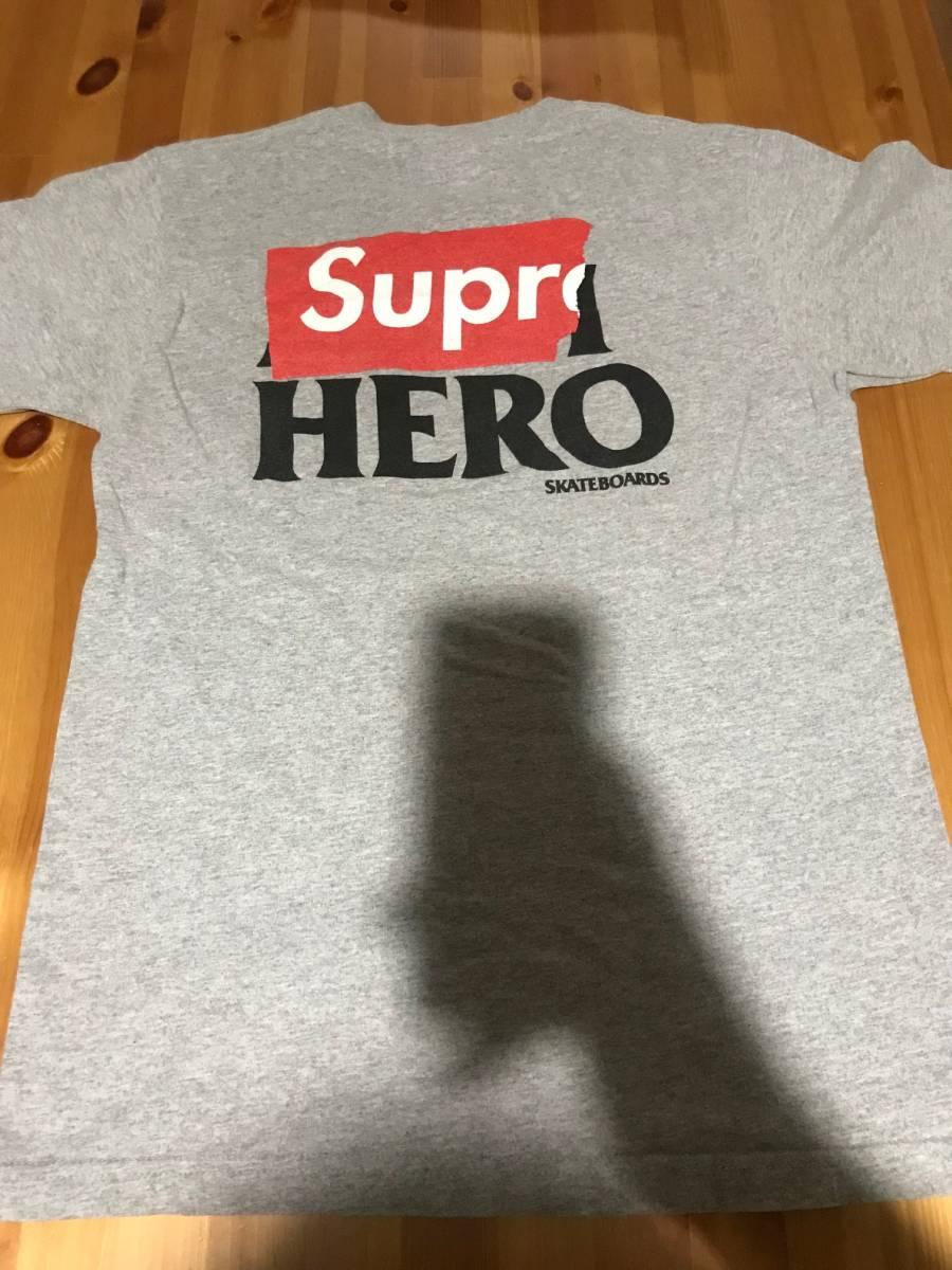 Supreme x Antihero Tシャツ グレー Mサイズ
