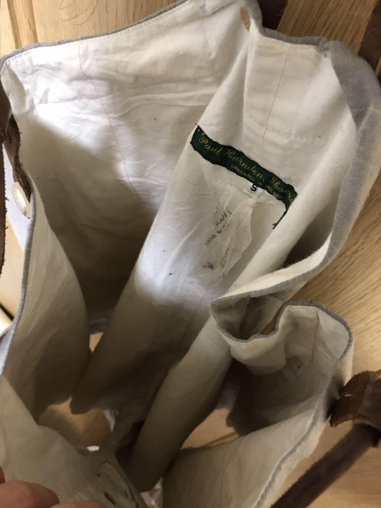 希少 美品 ポールハーデン paul harnden サスペンダー パンツ S ウール 薄手 グレー 部分的にストライプ ボトムス バーフパンツ ショーツ_画像7