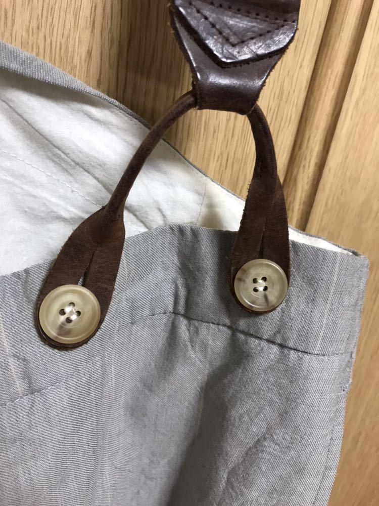 希少 美品 ポールハーデン paul harnden サスペンダー パンツ S ウール 薄手 グレー 部分的にストライプ ボトムス バーフパンツ ショーツ_画像3