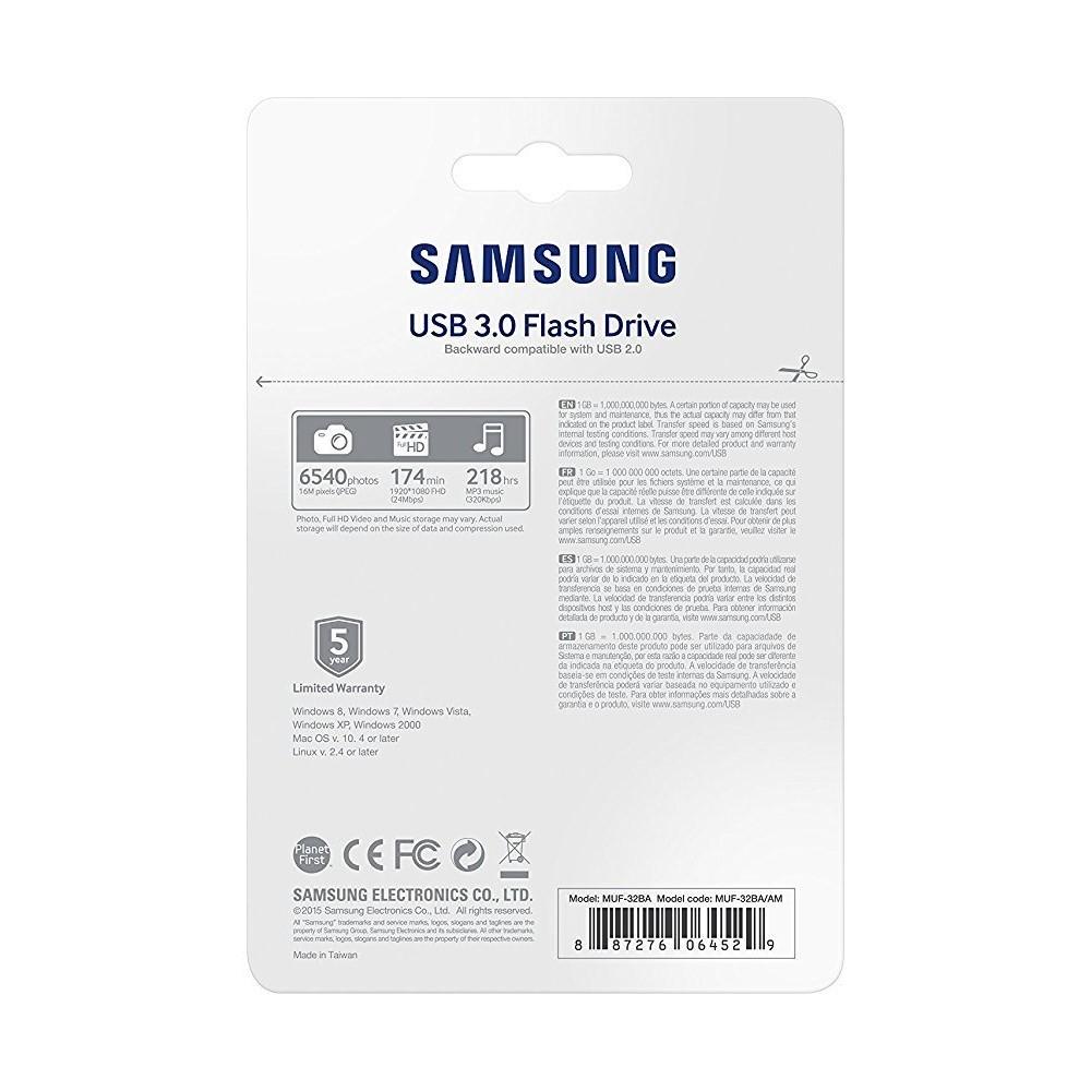 サムスン USB3.0 USBメモリ フラッシュドライブ 32GB 高速130MB/s 防水 耐衝撃 耐温度 防磁 X線防護 金属製ケースフック 新品 送料無料_画像2
