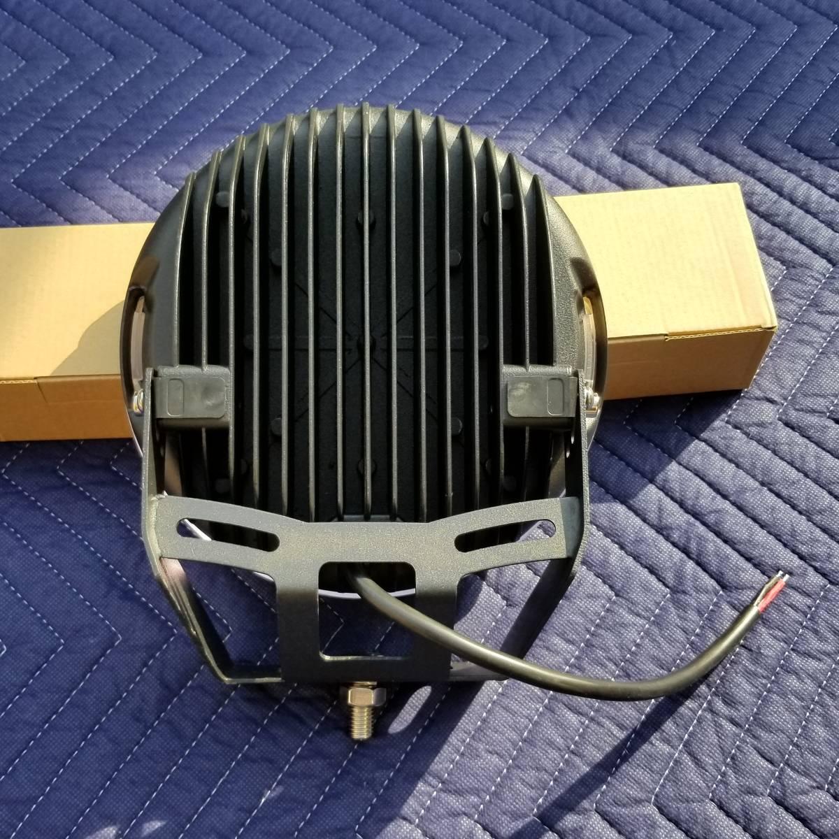 新品LED フォグライト 185w 作業灯 ワークライト 防水 CREE 2個 サーチライト ライトバー 丸型スポットビームARB プラド キャリア_画像6