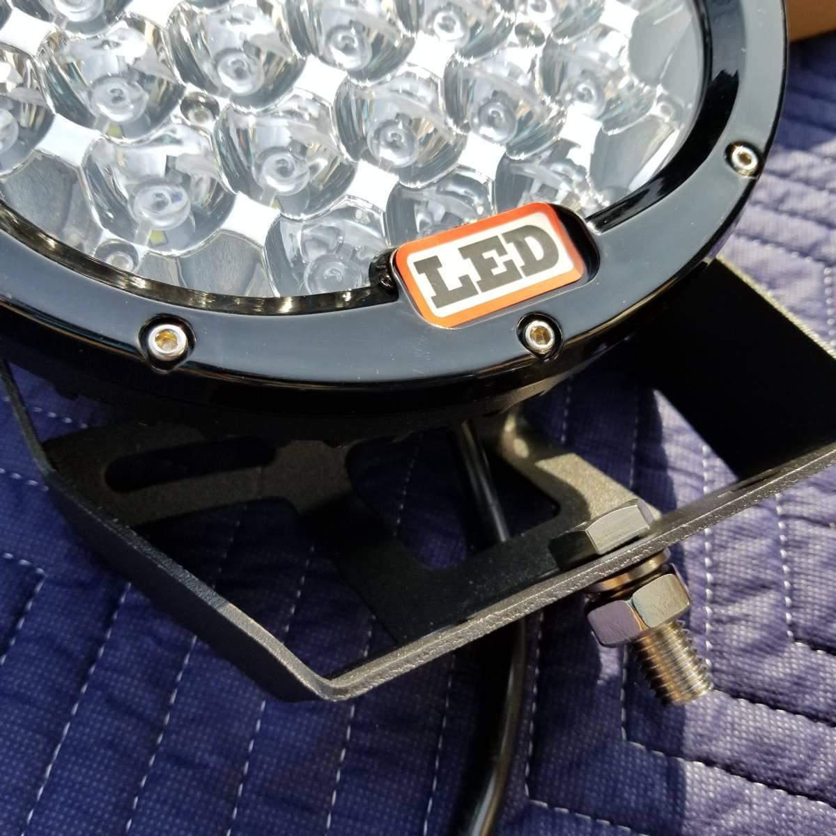 新品LED フォグライト 185w 作業灯 ワークライト 防水 CREE 2個 サーチライト ライトバー 丸型スポットビームARB プラド キャリア_画像7