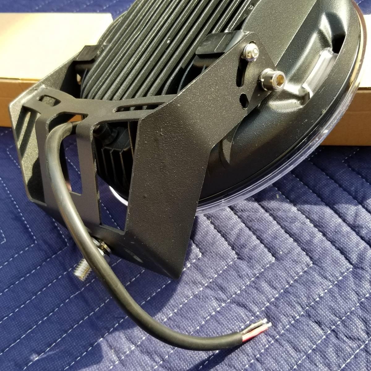 新品LED フォグライト 185w 作業灯 ワークライト 防水 CREE 2個 サーチライト ライトバー 丸型スポットビームARB プラド キャリア_画像5