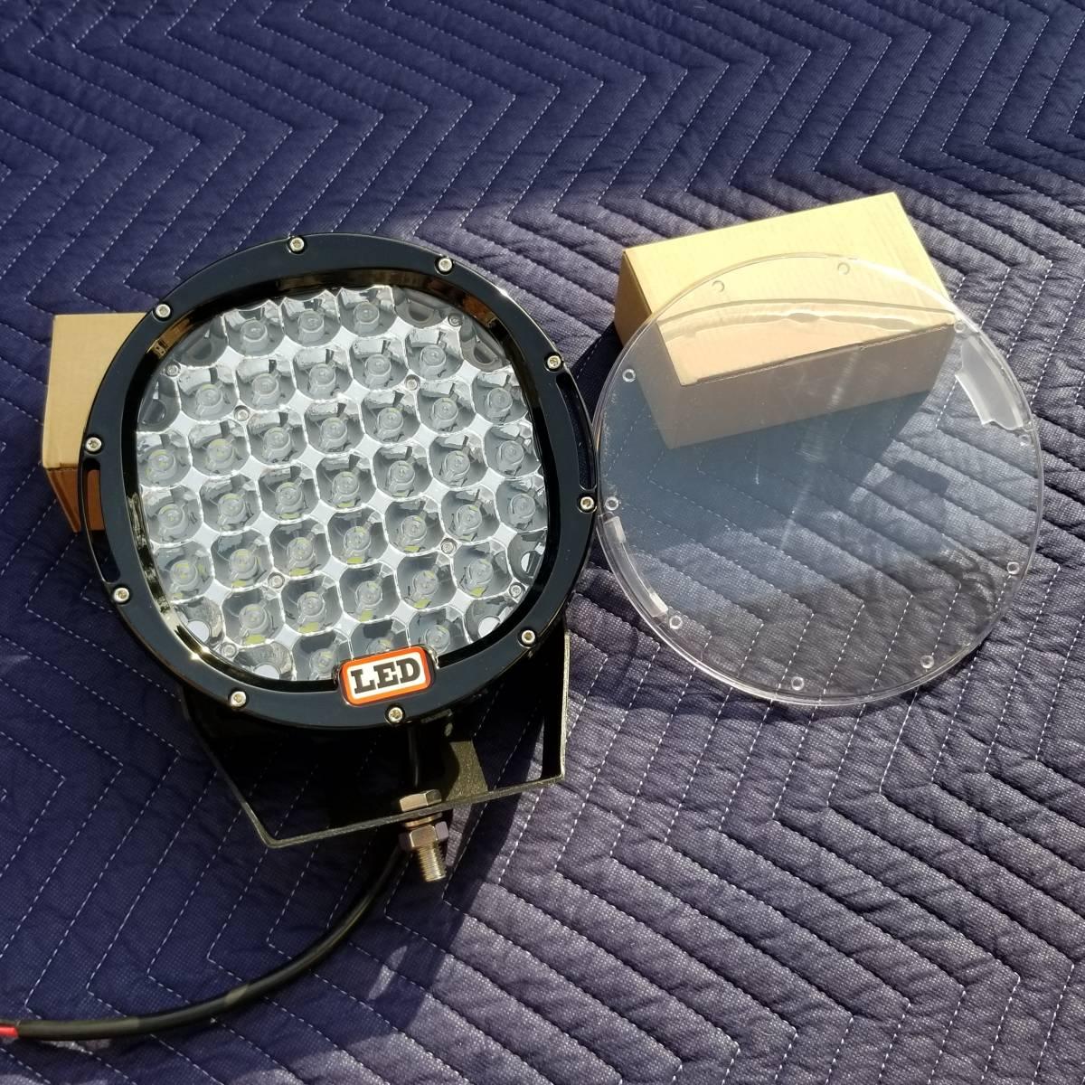 新品LED フォグライト 185w 作業灯 ワークライト 防水 CREE 2個 サーチライト ライトバー 丸型スポットビームARB プラド キャリア_画像3