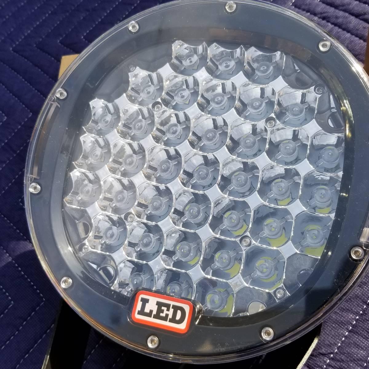 新品LED フォグライト 185w 作業灯 ワークライト 防水 CREE 2個 サーチライト ライトバー 丸型スポットビームARB プラド キャリア_画像8