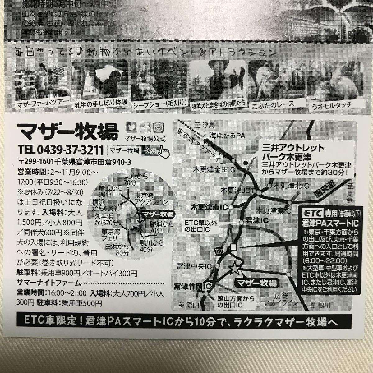 マザー牧場 入場ご招待券4枚セット 有効期限:2019年9月30日(月)_画像3