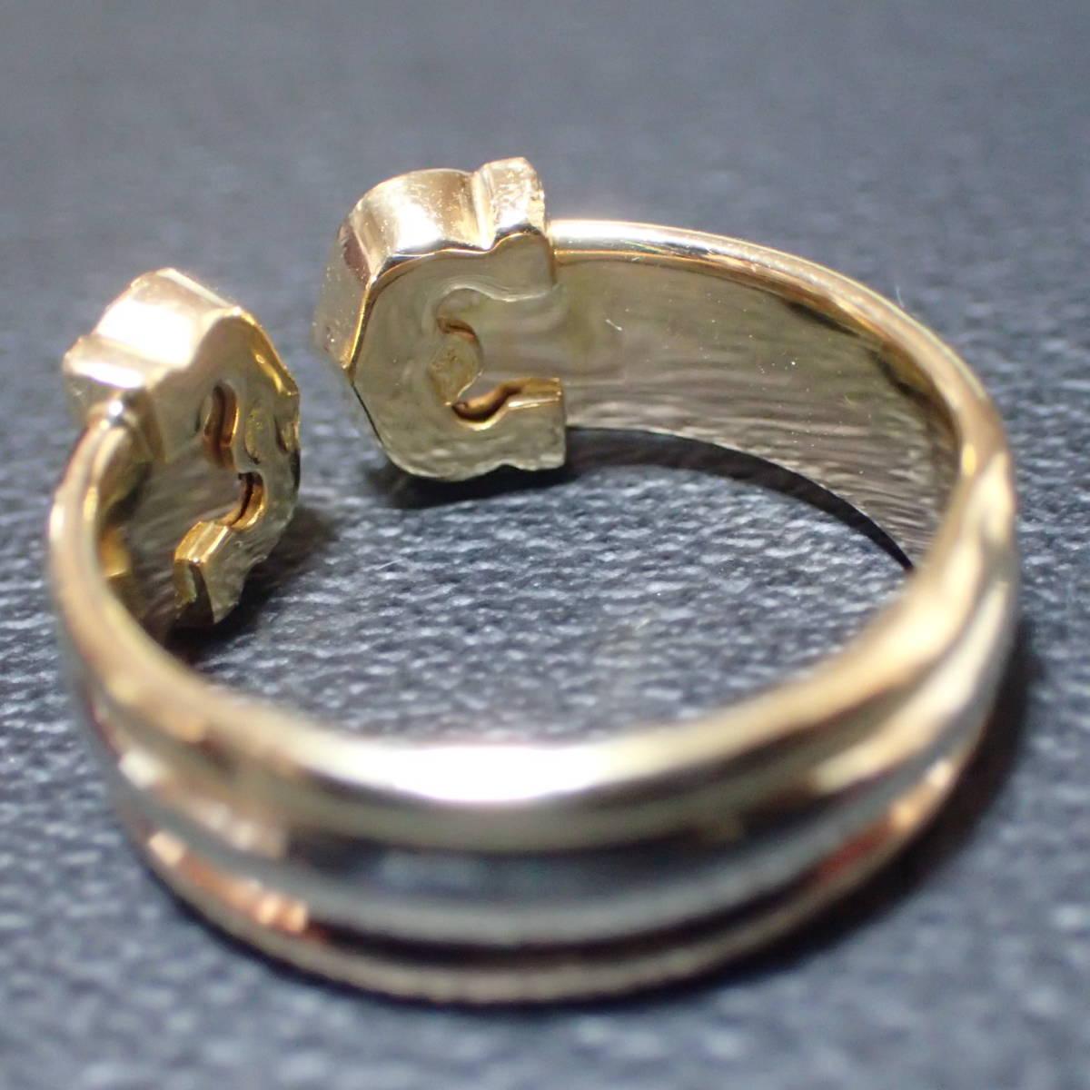 ★人気★【カルティエリング】 CARTIER 2Cモチーフリング ダイヤ K18 3カラー(新古品):日本サイズ12号:磨き済:_画像5