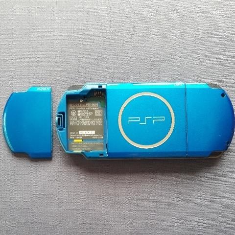 1円スタート! 美品! PSP-3000 ブルー バッテリー 充電器付き_画像2