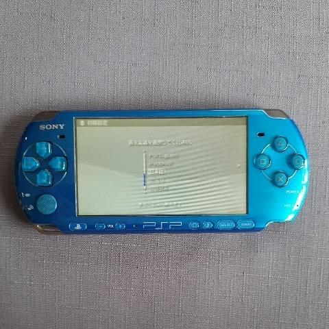 1円スタート! 美品! PSP-3000 ブルー バッテリー 充電器付き_画像3