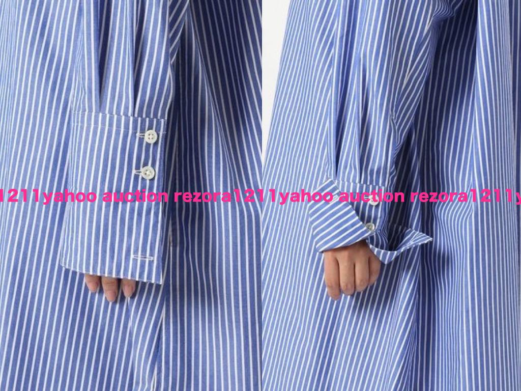 美品 FRAMeWORK フレームワーク 定価1.9万 日本製 金子綾さんコラボ ビックシルエット ワイド ニュアンス シャツ ロング ワンピース_画像7