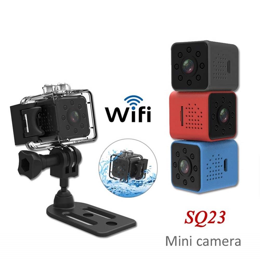 送料無料 SQ23 Wi-Fi搭載 ビデオ カメラ アクション スポーツ 防水 防犯 監視 動体検知 スマホ対応 ドライブレコーダー 日本製説明書 新品
