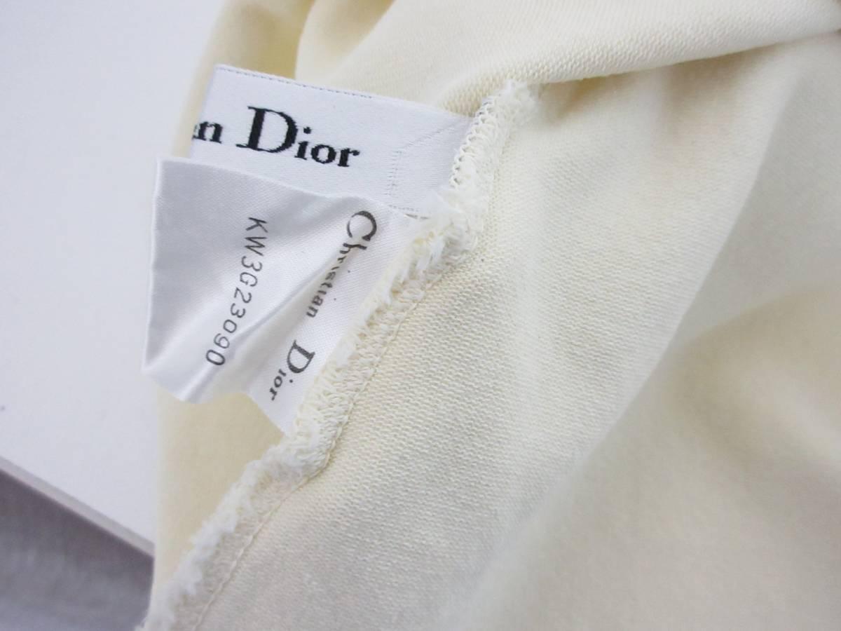 クリスチャンディオール Christian Dior ノースリーブ ニット カットソー オフ白 M 【クリックポスト】 OFM1907 南2275_画像4