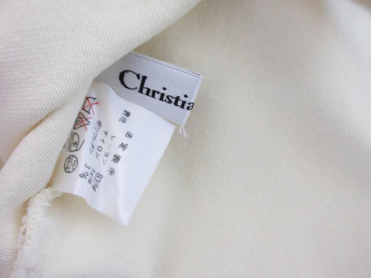 クリスチャンディオール Christian Dior ノースリーブ ニット カットソー オフ白 M 【クリックポスト】 OFM1907 南2275_画像3