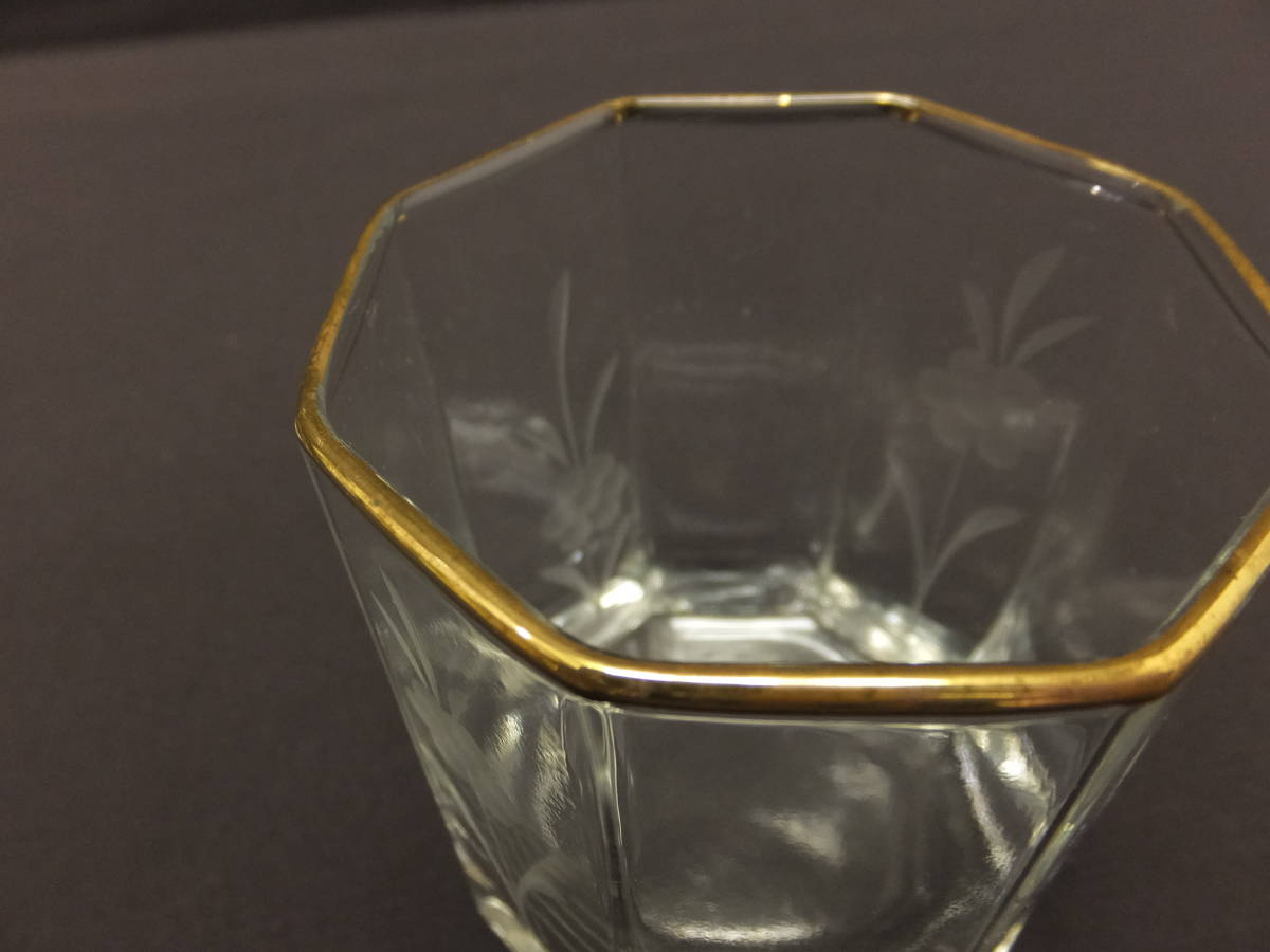 [071702] ロックグラス ウィスキーグラス 草花彫刻 2個セット MARCO AUSGEZEICHNET GESCHENK_画像6