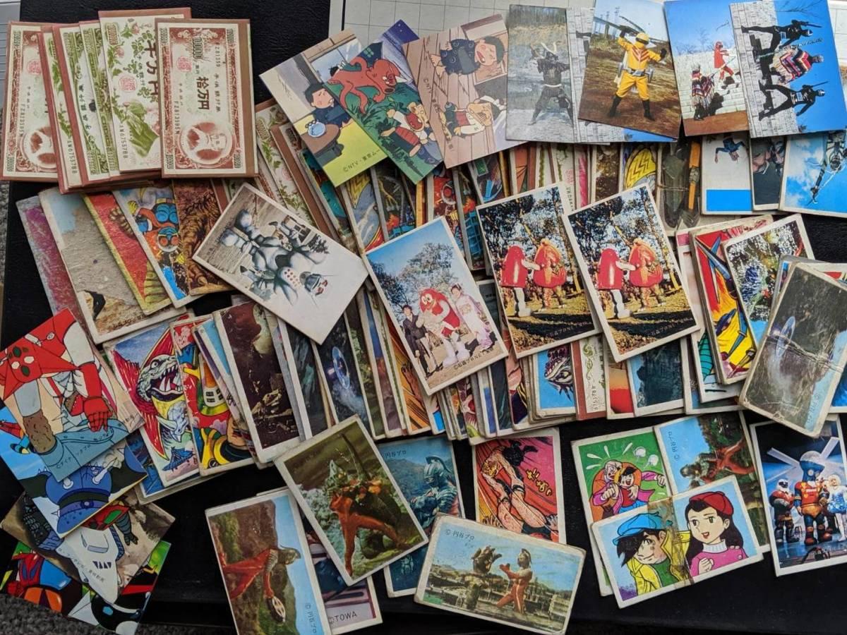 【送料無料】昭和40年代中心 めんこ 面子 各種セット 田宮 タミヤ キューベルワーゲン プラモデルの箱に入れて送ります