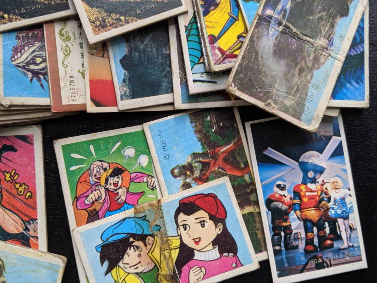 【送料無料】昭和40年代中心 めんこ 面子 各種セット 田宮 タミヤ キューベルワーゲン プラモデルの箱に入れて送ります_画像5