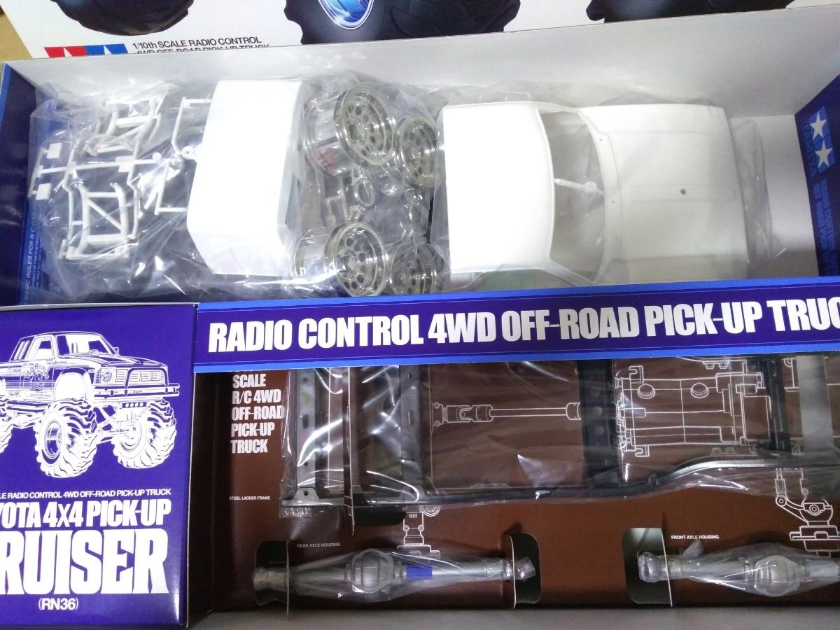 未開封 タミヤ 1/10 RCC トヨタ ハイラックス 4WD ハイリフト RN36 実質新品 未組立キット_画像2