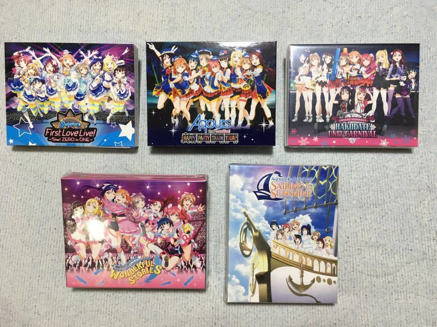 Aqours LoveLive! Blu-ray First / 2nd / 3rd / 4th / Saint Snow PRESENTS HAKODATE UNIT CARNIVAL Memorial Box 5巻セット 新品&中古美品_Memorial Box セットです。