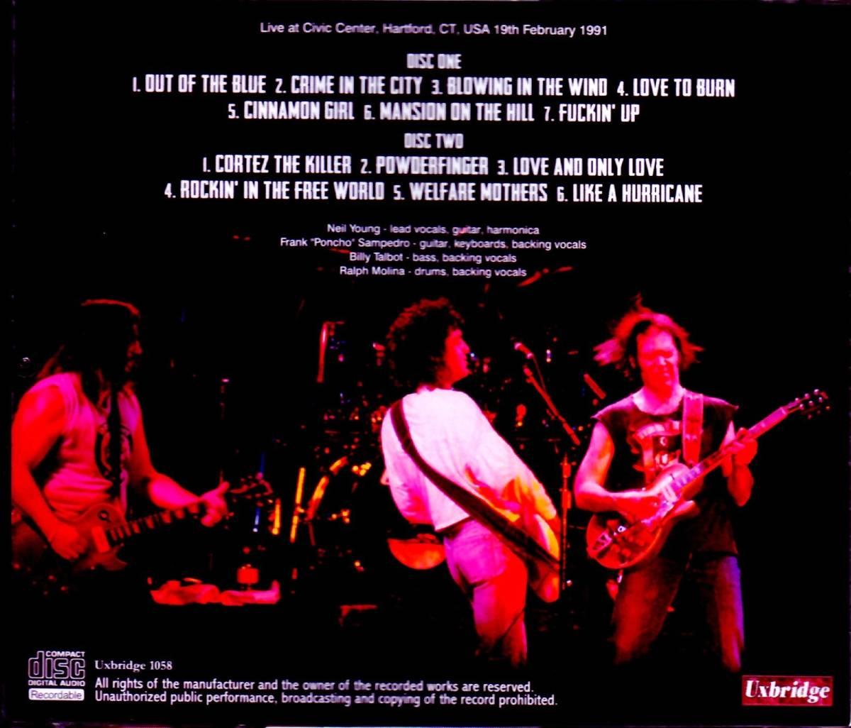 Neil Young & Crazy Horse ニール・ヤング/Hartford 1991_画像2