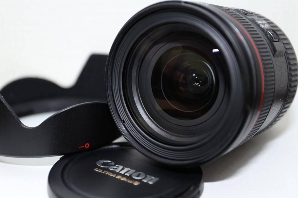 【大人気レンズ 最落無し1円スタート】☆極上美品☆ Canon キャノン EF 24-70mm F4 L IS USM